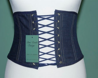 Denim corset belt jeans girdle