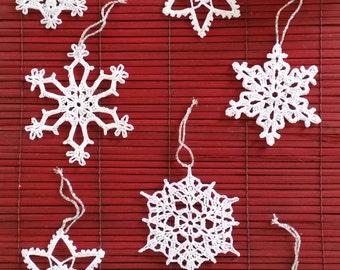 Snow Flake Christmas Decorations
