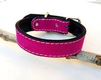 Suede (Chap Leather) Leather Dog Collar