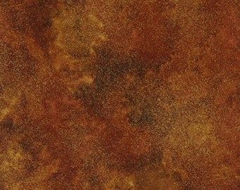 SHIMMER RUST WITH Metallic Fall Fabric, Timeless Treasures, Metallic Fabric, Shimmer Fall Materail, Quilting Fabric