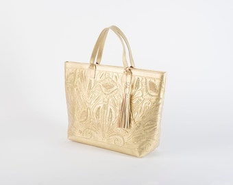 Hand Tooled Bag/Leather Bag/Shoulder Bag/Hand Tooled Leather/Vintage Leather Bag/Tooled Leather Bag/Hand Tooled Purse/Leather Purse/FridaBag