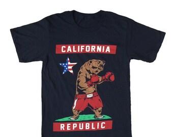 California Republic Bear Mens Tee S - 4XL