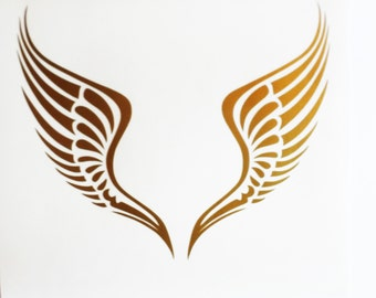 Angel wings decal Angel decal Vinyl Wall Stickers Removable wallpaper Laptop sticker Laptop decal Wings decal