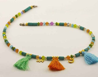 Crystal Necklace and Tassels