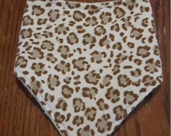 Cheetah Print Bandanna Bib