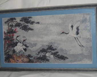 "Cross Stitch ""Cranes"""