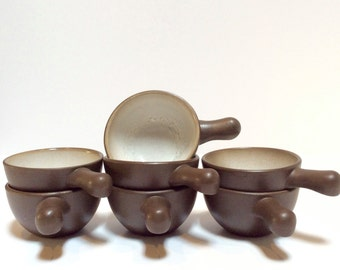 Vintage Heath Ceramics Handled Rim Bowl-Mid Century Modern Heath Pottery set of 7.