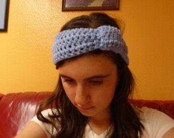 A knotted cozy crochet headband
