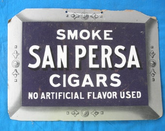 Vintage San Persa Cigar Advertising Display Tobacciana Scarce   Cigar Collectible