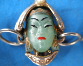 Vintage 1950's Selro Selini Asian Princess Earring Set Vintage Ladies Jewelry Collectible