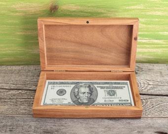 Rustic cigar box etsy for Money storage box