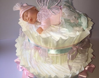 2 floors diapers cake