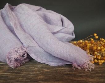 Linen Lily Scarf, Linen Women Accessories, Linen Gift