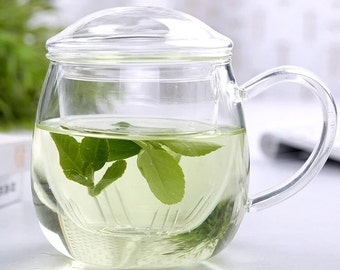 High temperature resistant glass tea cup glass teapot by hand 350mL