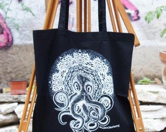 Tote Bag Black - Mandala - Cthulhu