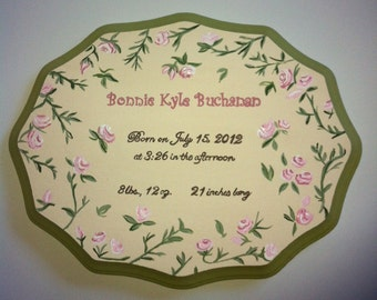 Customized Birth Announcement Plaques
