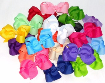 grossgrain ribbon baby bows
