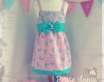 Floaty summer dress with extra large bow