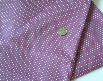 White Dots on Purple 100% Cotton Fabric