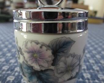 Royal Worcester Egg Coddler Porcelain Floral Design England