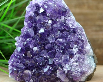 Dark Purple Amethyst Crystal Cluster  - Home Decor 1206.56