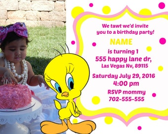 tweety invitations