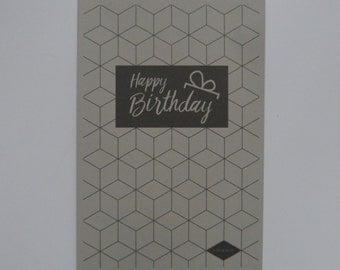 Happy Birthday Grey Card