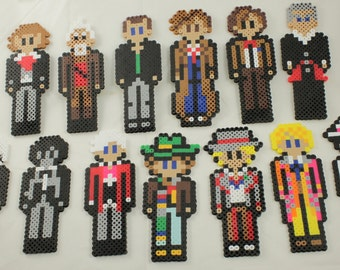 Doctor Who perler bead - All the Doctors!
