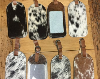 Cowhide Luggage Tag, travel tag, luggage, bag tag, name tag, bridesmaid gift, birthday, christmas