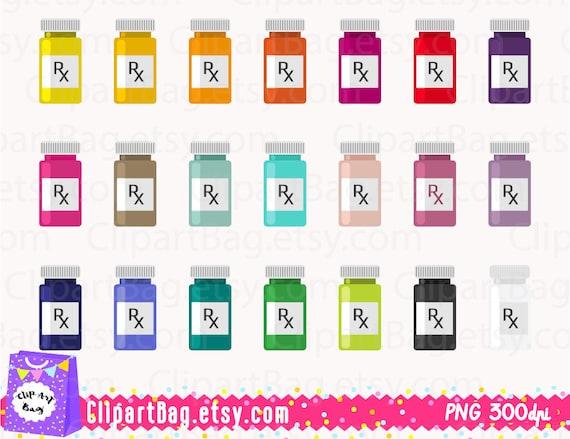 Prescription bottle clipart RX bottle clip art Pill clipart