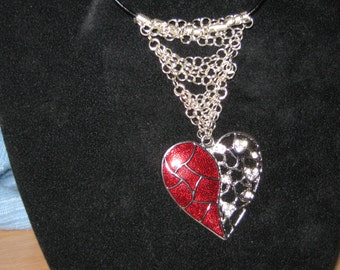Rhinestone Heart and Rings