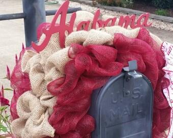Mailbox Decor, Crimson Tide, Mailbox Decorations, Mailbox Swag, Deco Mesh Mailbox Topper, Mailbox Cover , Bama, Alabama Football , Football