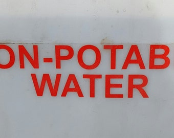 Non-Potable Water 2 in letters (red)