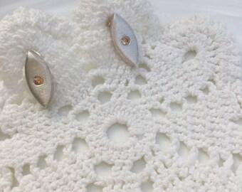 Brushed 925 Sterling Silver earrings