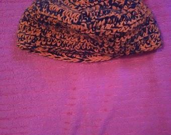 Black and Orange winter cap