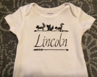 Personalized Woodland Onesie
