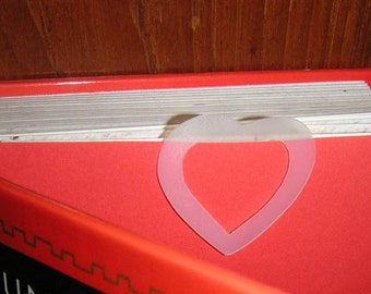 Heart Recycled Plastic Bookmark - opaque white