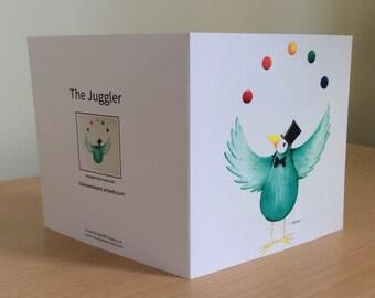 Blank greetings card-The Juggler
