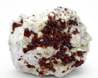 Almandine Garnet Cluster on Feldspar Matrix – 368g