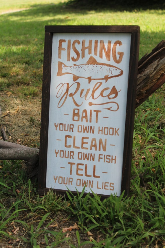 Fishing rules by collingssigndesigns on etsy for Illinois fishing regulations