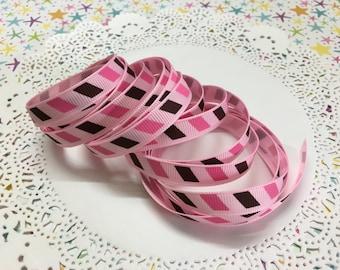 "Air mail theme grosgrain ribbon - 3/8"" (10mm) wide x 3 yards"
