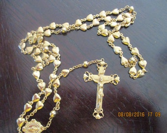 vintage rosary beads