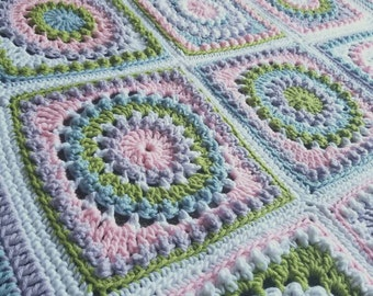 Multicolor Baby Blanket--You Choose Colors!