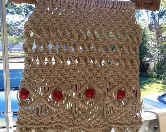 Natural Cotton Macrame Handbag