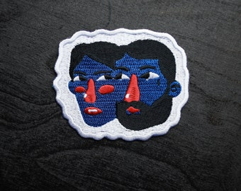 Faces Iron On Patch