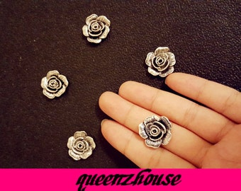 5pcs rhinestone hair clip buttons broochi art deco craft