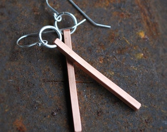 Sterling Sliver & Copper Earrings