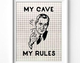wall art printable, man cave art, printable art, men, wall decor, home decor, office decor, wall art for men, instant download, retro