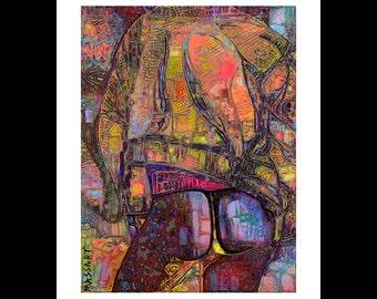 Art print digital gay Creation - Male art - male nude - No. 61 - 24 x 32 cm on A3