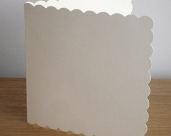 "Scalloped 6"" square cream cards & white envelopes  from Craftwork Cards"